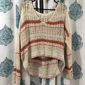 Urban Outfitters Cream and Peach Sweater